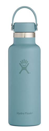 Hydro Flask Skyline Series 18 oz Water Bottle - Stainless Steel & Vacuum Insulated - Standard Mouth with Leak Proof Flex Cap - Sky