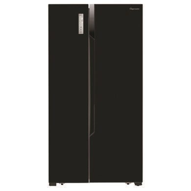 Fridgemaster MS91518FFB Black Side-by-side American Fridge Freezer