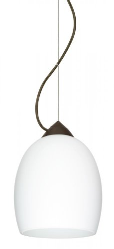 Besa Lighting 1KX-169707-BR Lucia - One Light Pendant, Choose Finish: BR: Bronze, Choose Mounting Option: 1KX: Dome Canopy Cable Fixture, Choose Lamping Option: 100W Incandescent Medium Base ()