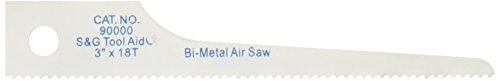 Tool Aid S&G (90000) Reciprocating Air Saw Blades, Pack of 5 ()
