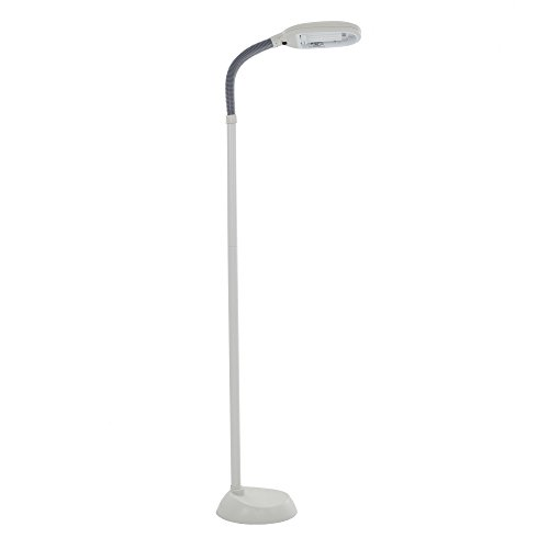 Natural Full Spectrum Sunlight Therapy Reading and Crafting Floor Lamp by Lavish Home (Beige) - Adjustable Gooseneck