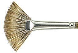 Silver Brush 2604S-2 Monza Short Handle Synthetic Mongoose Brush, Fan, Size 2
