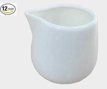 4 oz 1 Dz Super White Porcelain Creamers 2.4H Sunrise Kitchen Supply CU1365