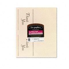 Geographics 45177 Thank you cards, 65-lb., 24 cards/25 envelopes per pack. ivory/gold foil (Envelopes Gold Foil Ivory)