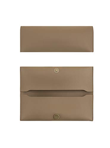 GreenDesign Works GONGJANG Double Pocket Leather Pencil Case for Stationery & Art Utensils (Mocha) ()