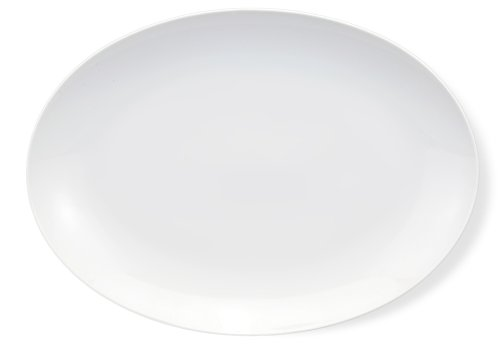 (HIC Porcelain Coupe Oval Platter 16.5- by 12-inch)