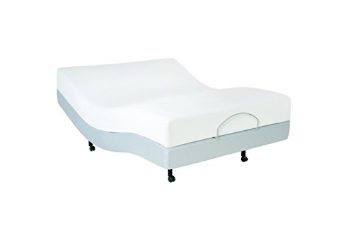 Fashion Bed Group 4AQ169 S-Cape Adjustable Bed Base with Wall Hugger Movement and Full Body Massage, Twin, X-Large, Gray