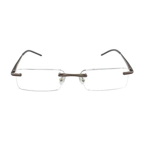4a76f25811 Gafas de lectura Edison & King - Gafas sin montura de aluminio con bisagras  de muelle