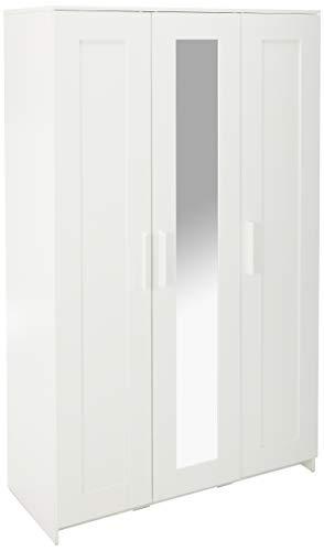"""IKEA Brimnes Home Bedroom Wardrobeswardrobe with 3 Doors, White 103.947.18, 46x74 3/4"""""""", Multicolor"""