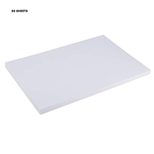 A4 Paper White, 100 Sheets 11.8 x 8.3 inch Thermal Printer Plain White Paper Multipurpose Office Printer Paper