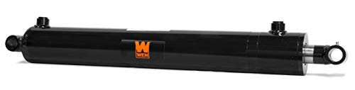 WEN WT2524 Cross Tube Hydraulic Cylinder with 2.5 Bore and 24-inch Stroke, Black