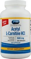 Vitacost Acetyl L-Carnitine HCl -- 500 mg - 300 Capsules