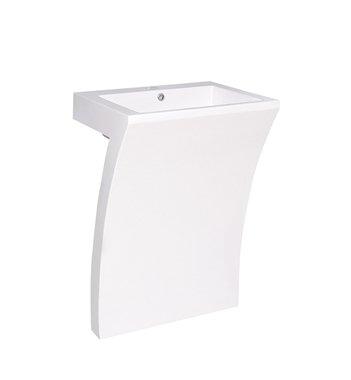 Fresca Quadro White Pedestal - Contemporary Pedestal