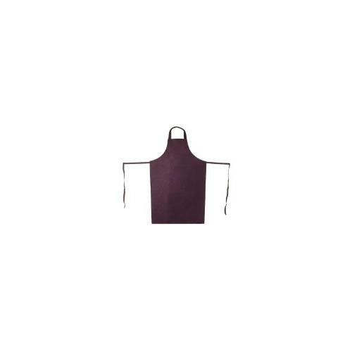 Update International APV-2641HD Vinyl Bib Apron with Leatherette Finish, Brown, Set of 12