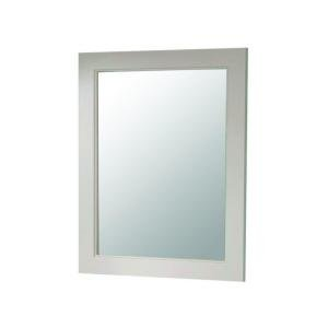 - Martha Stewart Living Seal Harbor 23 in. x 28 in. Wall Mirror in Sharkey Gray