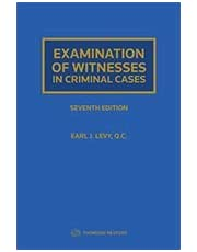 Examination of Witnesses in Criminal Cases, Seventh Edition