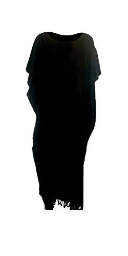 Cool Kaftans - Vestido - para mujer Black schwarz