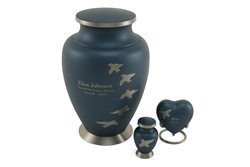 - Hand Crafted Brass Aria Ascending Memorial Urn - Keepsake - Includes FREE Liberty Microfiber Cloth