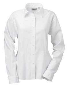 (Women's Ashworth EZ-Tech Herringbone Shirt, White,)