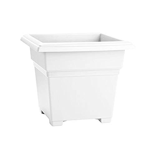 Countryside Square Tub Planter, White, 14 Inch