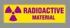 RADIOACTIVE Labels, 2-7/8 x 7/8 inches, Paper, Dispenser Box of 500