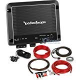 Rockford Fosgate R500X1D Amplifier + Wiring Kit Bundle R500X1D 500W RMS Prime Series Class D Monoblock Amplifier + BAK42 Complete CCA 4 Gauge Amplifier Wiring Kit with 2-Channel RCA Interconnects