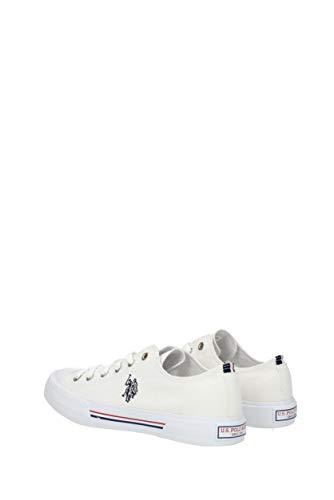 38 Blanc Pointure Blanc Couleur US Polo Toile Tennis Femme 85wAAq