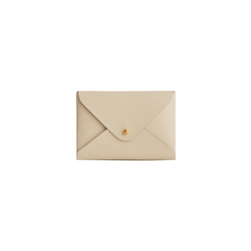 Paperthinks 7.5 x 4.7 Inches Shiny Ivory Recycled Leather Small Folder (Recycled Leather Photo)