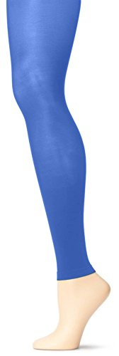 Grandeur Hosiery Women's Ladies Adult Joiner's Solid Colored Seamless Microfiber Full Length Semi Opaque Dance Ballet Costume Footless Tights Leggings Fashion Stockings Royal Blue B / Small