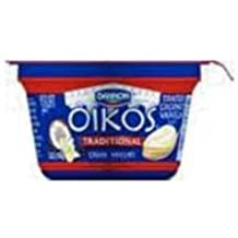 Oikos Toasted Coconut Vanilla Traditional Greek Yogurt, 5.3 Ounce -- 12 per case.