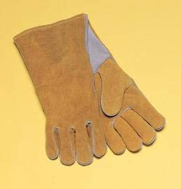 Radnor Large 14 Bourbon Brown Cowhide Cotton Lined Welders Gloves (4 Pairs) by Radnor Safety (Image #1)