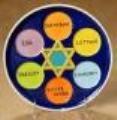 Ceramic bisque unpainted Passover seder plate 8''