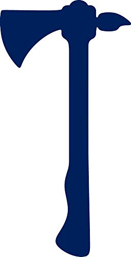 ANGDEST Tomahawk Silhouette Funny (Navy Blue) (Set of 2) Premium Waterproof Vinyl Decal Stickers for Laptop Phone Accessory Helmet Car Window Bumper Mug Tuber Cup Door Wall Decoration