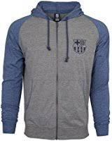 - Fc Barcelona Hoodie Fz Summer Light Zip up Jacket Grey Youth Kids (Youth Medium)