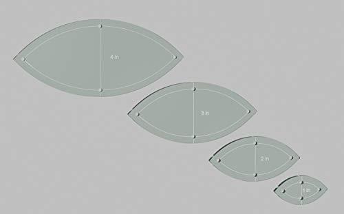 Orange Peel/Leaf Quilting Template Set, 4