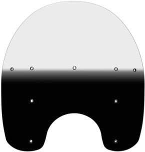 Memphis Shades MEP6261 Black Windshield (Replacement Plastic For Harley-Davidson 17