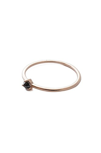 HONEYCAT Black Iron Ore Crystal Point in 18k Rose Gold Plate | Minimalist, Delicate Jewelry (Soles Gem Gold 100)