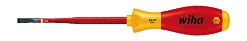 Wiha 3.5 x 100mm Slim Fix VDE Screwdriver Slotted by Wiha
