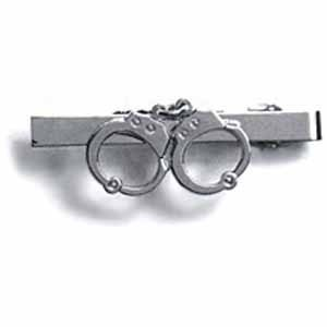 Nickel Handcuffs Finish - HWC POLICE SECURITY GUARD OFFICER PRIVATE INVESTIGATOR DETECTIVE HANDCUFF UNIFORM TIE CLIP NICKEL / SILVER FINISH, GREAT DEAL !