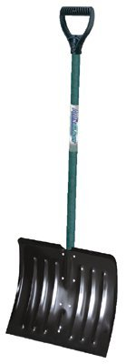 Arctic Blast Snow Pushers/Shovels, 14 1/2 X 18 Blade, Wood Poly D-Grip Handle (16 Pack) by ''Ames''
