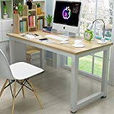 44'' Laptop Computer Desk PC Table Wood Workstation Study Writing Gaming Bench Home Office Furniture (44'')