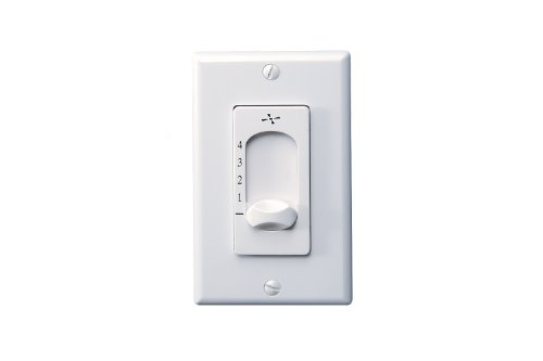 Fashion Forward Ceiling Light (Monte Carlo ESSWC-3-WH 4-Speed 5-Position 1.25-Amp Wall Control, White)