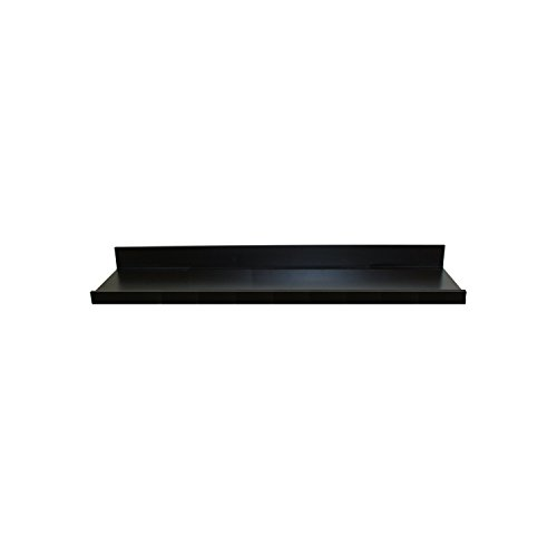 InPlace Shelving 9084680 Floating Wall Shelf with Picture Ledge, Black, 35.4-Inch Wide by 4.5-Inch Deep by 3.5-Inch High