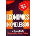 img - for Economics in One Lesson - 50th Anniversary Edition (96) by Hazlitt, Henry [Paperback (2008)] book / textbook / text book