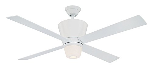 Kendal Lighting AC17652-WH Contour 52-Inch Ceiling Fan, White Finish Motor with White Blades and Integrated Light Kit Review