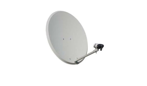 Antena parabólica Offset 80 cm de Acero: Amazon.es: Electrónica
