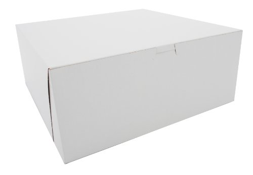 Window Non Corner Lock (Southern Champion Tray 0987 Premium Clay Coated Kraft Paperboard White Non-Window Lock Corner Bakery Box, 12