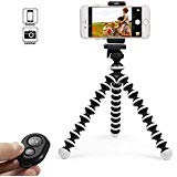 KCOOL Phone Tripod Stand Holder for iPhone, Cellphone,Camera with Universal Clip and Remote