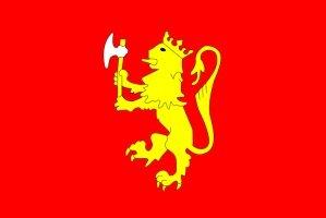 - NORWEGIAN ROYAL STANDARD FLAG, 3'x5' Norway banner