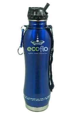 Ecoflo Stainless Steel Water Filter Blue Bottle Ecoflo 27 oz Bottle